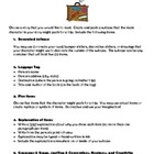 Book Report Character Suitcase Task