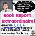 Book Report Extraordinaire! Grades 6-9 --Common Core Aligned