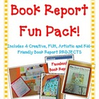 Book Report FUN PACK! 4 Projects! Board Game-Newspaper-Fac