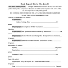 Book Report Rubric &amp; Sample Report