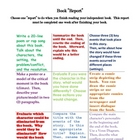 Book Report Tic-Tac-Toe (Multiple Intelligences/Authenic A