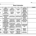 Book Report/Celebration Rubric