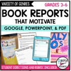Book Reports that Motivate!  Pick a Genre!