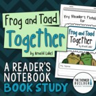 Book Study: Frog and Toad Together {A Reader's Notebook}