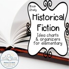 Book Study Historical Fiction Idea Charts and Organizers f