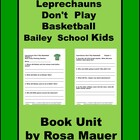 Book Study for Bailey School Kids St. Patrick's Day Readin