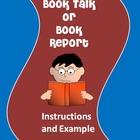 Book Talk or Book Report Instructions and Example
