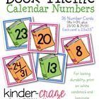 Book Theme Calendar Numbers