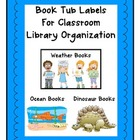 Book Tub Labels for Classroom Library Organization