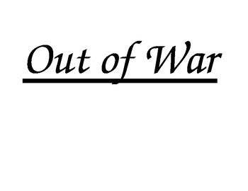 Book of the Month: Out of War