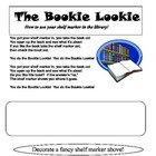 """Bookie Lookie"" Shelf Marker Song and Worksheet"