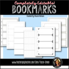 Bookmark Templates WORD Printables Reading