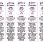 Bookmarks Plus: Johnny Tremain--A Handy Little Reading Aid!