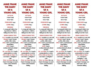 Bookmarks Plus: The Diary of a Young Girl--A Handy Reading Aid!