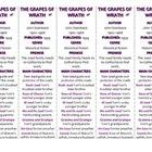 Bookmarks Plus: The Grapes of Wrath edition--Handy Reading Aid!