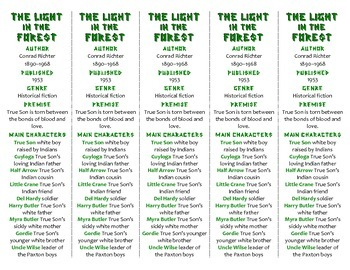 Bookmarks Plus: The Light in the Forest edition--Handy Rea