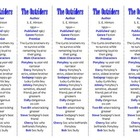 Bookmarks Plus: The Outsiders edition--A Handy Reading Aid!