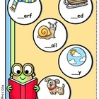 Bookworm Beginning Blends File Folder Game
