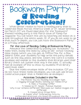 Bookworm Party: A Reading Celebration!