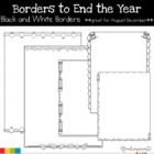 Borders to End the Year Great for Back to School Black and White
