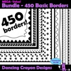 Borders / Frames: Basic Black Borders / Frames Clip Art Set