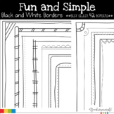 Borders Fun and Simple Black and White Borders Pack