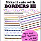 Borders III - Make it cute!