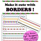 Borders - Make it cute! - Add color w/o killing a whole in