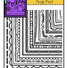 Borders SQUARES Mega Pack {Creative Clips Digital Clipart}