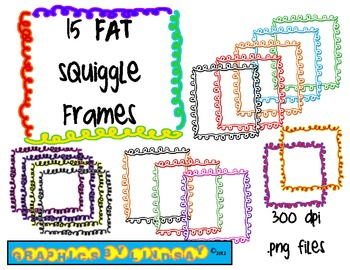 Borders and Frames {FAT Squiggle Frames}