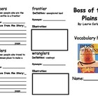 Boss of the Plains Vocabulary Fold-able