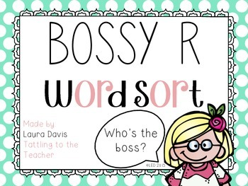 Bossy R Read, Write, Sort Around the Room