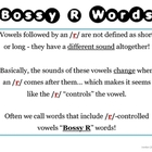 Bossy R Word Sort Packet