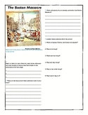 Boston Massacre Propaganda and Newspaper Lesson Plan and W