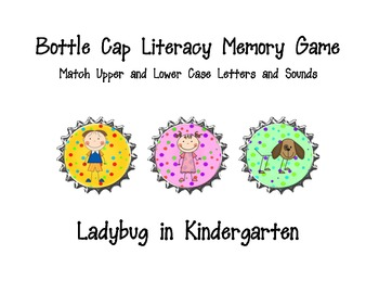 Bottle Cap Literacy Memory Game