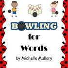 "Bowling for Words- A Fun ""Making Words"" Activity"
