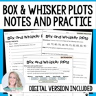 Box and Whisker Plot Notes and Guided Practice Worksheets