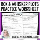 Box and Whisker Plot Practice Worksheet
