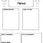 Boy and Girl Classroom Newsletter  - Editable