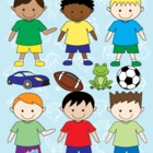 Boys Clip Art Collection - Personal and Commercial Use