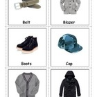 Boys Clothing Cards