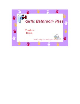 Boys & Girls Bathroom Pass