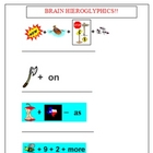 Brain Hieroglyphics Game Worksheet and Key