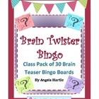 Brain Twister Bingo - Class Pack of 30 Brain Teaser Bingo Boards