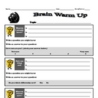 Brain Warm Up K-W-L  Prereading Strategy