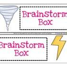 Brainstorm Box Center- FREEBIE