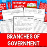 Branches of Government Activities for Interactive Notebooks