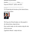Branches of Government worksheets - Modified