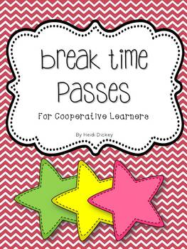 Break Time Passes for Cooperative Learners