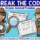 Break the Code - Ocean Animal Freebie